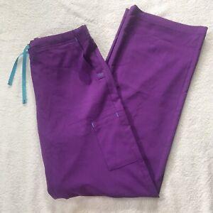 CARHARTT Force Women's SMALL C52110 Scrubs Pants PURPLE Drawstring Waist EUC