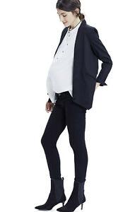 HATCH The Blazer sz 1 fits 4 6 Navy w Black trim maternity jacket