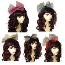 80s Pop Star Bow, headband, 80s fancy dress alice band, hen party, 5 Colours