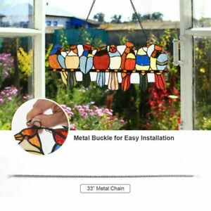 1x Bird Species Stained Pendant Window Hanging Suncatcher Acrylic Birds Hangings