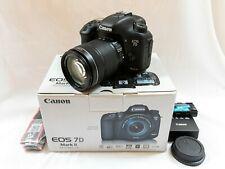 Canon EOS 7D Mark II Digital SLR Camera with 18-135mm IS STM Lens-excellent cond
