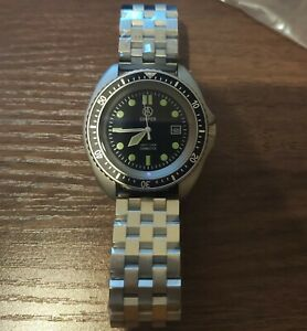 COOPER SUBMASTER STEEL FINISH ROYAL NAVY MILITARY DIVERS WATCH SM8016STBRA