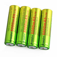 4pcs SKYWOLFEYE 18650 Battery 5000mAh Li-ion 3.7V Lithium Rechargeable Batteries