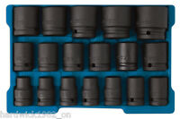 IMPACT SOCKET SET SPECIAL OFFER! 18pce 10mm - 32mm IN STORAGE CASE 1/2 DRIVE