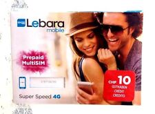 New! Prepaid Swiss sim card with 10 Chf Internet and voice Sunrise Switzerland