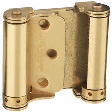 (2) National Hardware N100-049 V127 Double-Acting Spring Hinges, Satin Brass