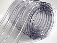 "150' Roll - 8"" Wide Ribbed PVC Plastic Strip Curtain for Walk In Coolers, Wareho"