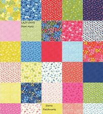 "LAZY DAYS Charm Pack from MODA - (42) 5"" factory-cut squares - 10070PP"