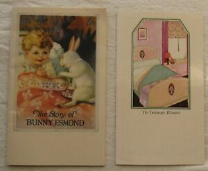 Vintage Esmond Blanket Advertising Booklet & Pamphlet*Bunny Story*1928*baby