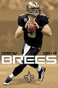 DREW BREES New Orleans Saints Super Bowl XLIV Season Original NFL Action POSTER