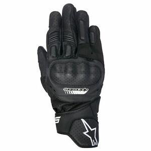 Alpinestars SP-5  sp5 Black Moto Motorcycle sport short Gloves size S Small