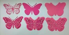 """LARGE BUTTERFLIES DIE CUTS 2.75"""" H Made with Glossy Cardstock Embellishments"""