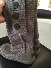 UGG WOMEN'S LADIES GREY KNITTED CARDI BOOTS SIZE UK 5.5