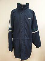 FF532 MENS VINTAGE ADIDAS BLUE GREEN WHITE FULL ZIP HOODED COAT UK XL EU 54