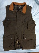 Double RL RRL Polo Ralph LaurenMens Waxed Cargo Utility Vest Jacket Small oiled