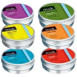 MUK HAIR STYLING Hard Dry Filthy Raw Rough Savage Slick Hair Paste Wax Mud Po...