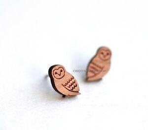 Harry potter,s pet hedwig earrings snowy owl earrings wood earrings costume