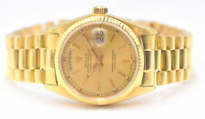 GENTS ROLEX PRESIDENT OYSTER PERPETUAL DAY-DATE 18038 18K YELLOW GOLD 1979