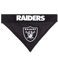 Oakland Raiders NFL Licensed Pets First Dog Pet Reversible Bandana 2 Sizes