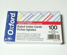 New Oxford Ruled Index Cards Color Bar Ruling 100 3 X 5 Assorted Colors 05135