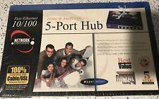 Linksys 5-Port Hub Wired 10/100 NH1005-wm New Sealed