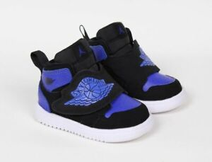 Nike Sky Jordan 1 Air Black Hyper Royal White Toddler Shoes BQ7196-004 Size 4C
