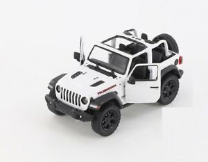 2018 Jeep Wrangler Rubicon OPEN top Diecast Car Model with Pull back 1/34 WHITE