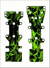 T-Maxx / E-Maxx GPM Skid Plate Protectors Dark Flames Green - Traxxas