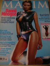 december 2001 Maxim UK #80 Dannii Minogue cover + VICTORIA SMURFIT MISS REBEKAH