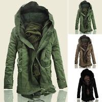 Hombre PARKA chaquetón de invierno Chaqueta abrigo Con Capucha 4d 4 Forro