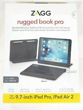 "ZAGG Rugged Book Pro Keyboard Case Kickstand for iPad Pro 9.7"" & iPad Air 2 9.7"""