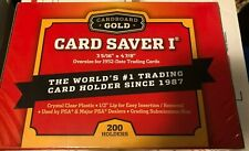 200 Count Card Saver 1 NEW IN BOX Cardboard Gold PSA In Stock Savers