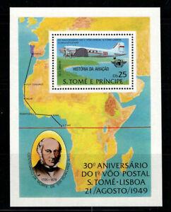 Sao Tomé und Príncipe 1979 1. Postflug n Lissabon Block 35 A postfrisch