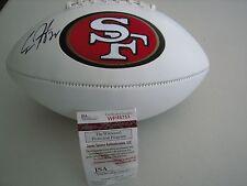 Carlos Hyde Autographed 49er's Logo Football   JSA