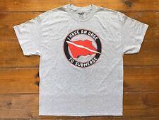 Deep Sea Scuba Diving Helmet Flag Men's T-Shirt Gray New Old Stock Vintage Xl