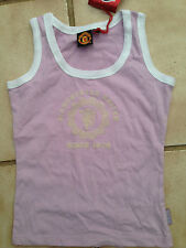 Manchester United vest lilac age 6/7 girls