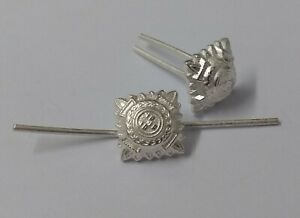 """Military Rank Pips 3/8"""" Dead Silver Officers Bath Stars Wire Fitment  X2 GIM161"""