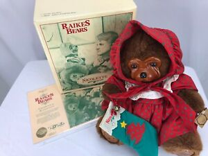 RARE Early #110 Raikes Teddy Bear Signed Numbered ARTIST'S PROOF NICOLETTE
