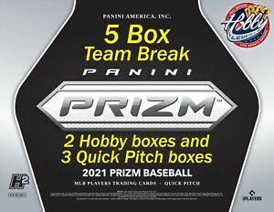 MIAMI MARLINS 2021 PRIZM QUICK PITCH 5 Box Team Break Mixer #5