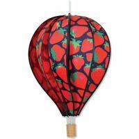 "Premier Kites Hot Air Balloon STRAWBERRIES Wind Spinner (25814 - 22"" size)"