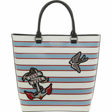 Karl Lagerfeld Blue And White stripped tote Shopper Bag