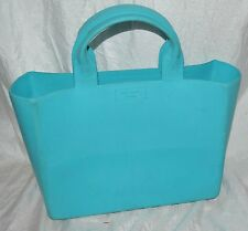Rare KATE SPADE QUINN RUBBER TOTE TURQUOISE purse carry all