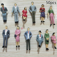 50Pcs Figures Model People Trains 1:32 Painted Figures Scale Passengers Decor