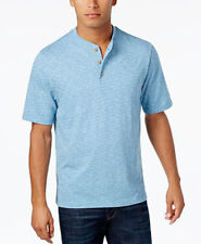 New Mens Weatherproof Vintage Blue Dot Melange Henley T Shirt  S