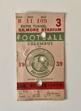 Los Angeles Bulldogs (AFL) Ticket Stub 1939 - (vs- Columbus Bullies) Rare!