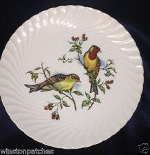 "BURLEIGH BURGESS LEIGH TWO BIRDS ON BRANCH SALAD PLATE 7 3/4"" SWIRL"