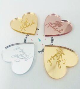 Eid Mubarak Heart Tokens Gift Tags, Silver Rose Gold Mirror  Little Pocket Hug