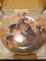 Gorham Western Tom Ryan SPLIT DECISION Plate Collectors Limited Edition 10.75""