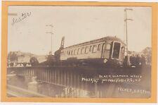 Real Photo Postcard RPPC- Black Diamond Train Wreck Phillipsburg NJ Felker Photo