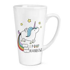 Licorne I Poop Arcs-en-ciel 483ml Grand Latte Tasse - Drôle